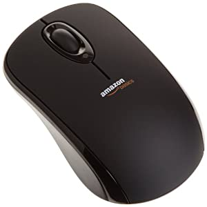 AmazonBasics Wireless Mouse with Nano Receiver Black