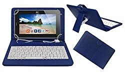 ACM PREMIUM USB KEYBOARD TABLET CASE HOLDER COVER FOR HCL ME CONNECT 2G 2.0 With Free MICRO USB OTG - BLUE