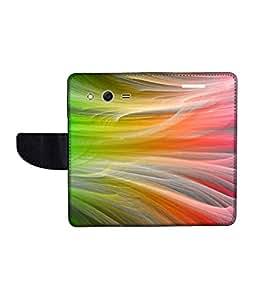 KolorEdge Printed Flip Cover For Samsung Galaxy Core ll Multicolor - (45KeMLogo11959SamCore2)