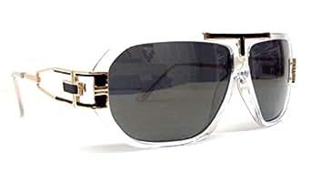 Amazon.com: Clear & Gold Gazelle Sunglasses Smoke Iridium