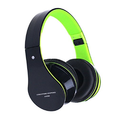 Abc(Tm) Best Price Foldable Wireless Bluetooth Stereo Headset Headphones Mic For Iphone (Green)