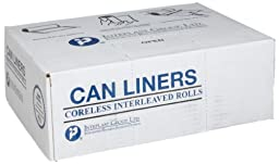 Inteplast Group S386022K HDPE 60 Gallon Can Liner, 0.86 Mil, Star Seal, 60\