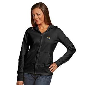 Jacksonville Jaguars Ladies Zip Front Hoody Sweatshirt (Alternate Color) by Antigua