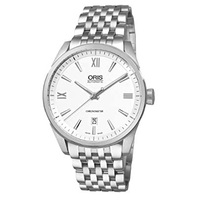 Oris Men's 73776424071MB Artix Silver Dial Watch