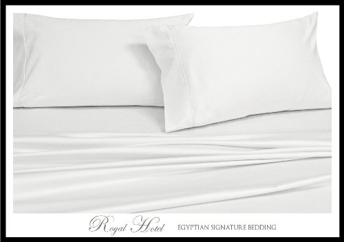 Royal Hotel'S Solid White 300-Thread-Count 3Pc King Duvet-Cover 100-Percent Egyptian Cotton, Sateen Solid, 100% Cotton front-394973