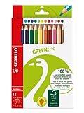 STABILO GREENtrio 12er Etui - FSC-zertifizierte Dreikant-Buntstifte hergestellt von Stabilo