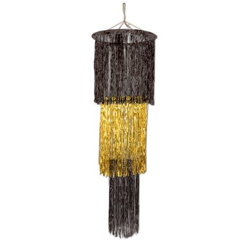 Beistle 3ripiani, 120cm-Lampadario, colore: nero e oro