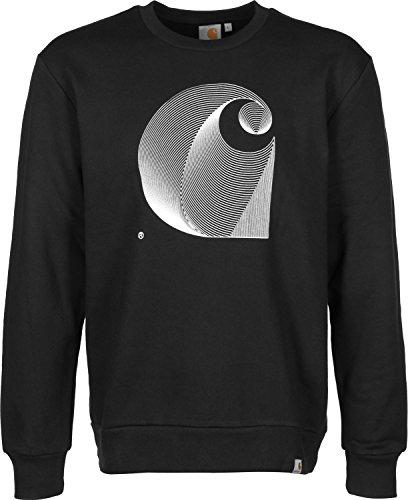 Carhartt, Dimensions Sweat - Felpa da uomo, colore black/white, taglia L