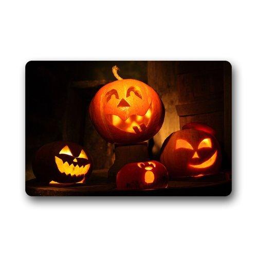 """Custom lavabile ZERBINO PERSONALIZZATO--Happy Halloween resistente tappetino/cancello, per interni/esterni 23.6""""(L) X 15.7(W)"""