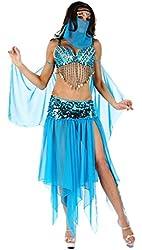 Samurai JP Arabian Princess Sexy Belly Dance Halloween Coplay Costume