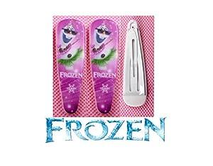 2 barrettes cheveux La reine des neiges Motif Olaf