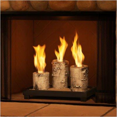 Real Flame Birch Pillar Tabletop Gel Fireplace Review