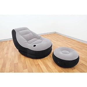 Intex 68564 poltrona lounge cm 99x130x76 poggia piedi for Pied piscine intex