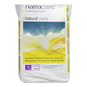 Natracare Organic Maxi Night Time Pads - Pack of 10