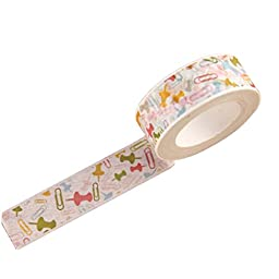 4 PCS Lovely and Fresh Style Office Tapes Paper Material Colorful Pins Pattern