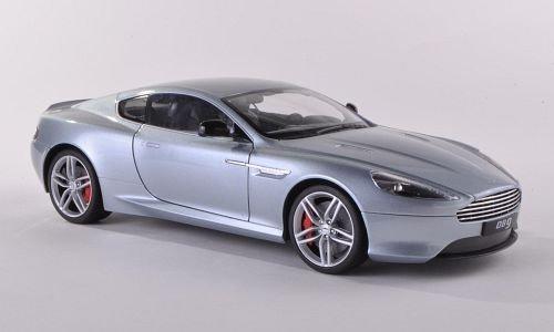 Aston-Martin-DB9-Coupe-silber-LHD-Modellauto-Fertigmodell-Welly-118