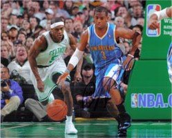 Signed Paul, Chris (New Orleans Hornets) 8x10 Photo autographed by Powers+Collectibles