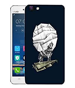 Snoogg Fox On Kite Paper Art Designer Protective Back Case Cover For VIVO V1 MAX