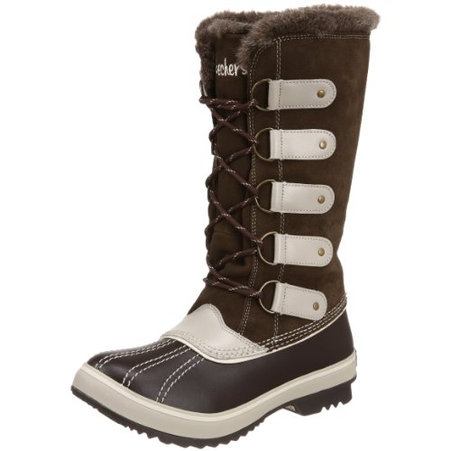 Skechers Women's Highlanders Glaciers Brown Fur Trimmed Boot 47305 4 UK