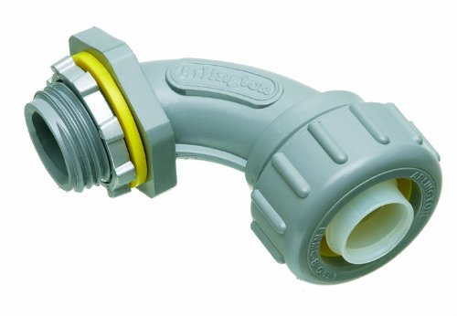 Arlington Nmlt9050-1 90 Degree Non-Metallic Liquid-Tight Connector, 1/2 Inch