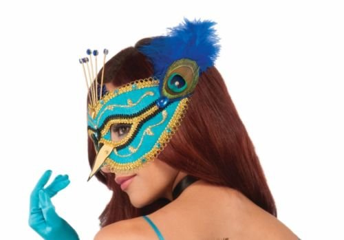 [Sexy Blue Peacock Fancy Mask Eyeglass Frame Feathers Halloween Costume Accessory] (Peacock Spider Costume)
