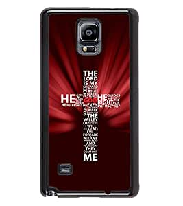 PrintVisa Metal Printed Quotes Designer Back Case Cover for Samsung Galaxy Note 4 N910G -D4719