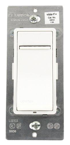 Leviton Vrf01-1Lz Vizia Rf + 1.5A Scene Capable Quiet Fan Speed Control , White/Ivory/Light Almond