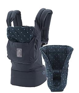 Ergobaby Babytrage Kollektion Original -von Geburt an Paket- (3,2 - 20 kg), BellyButton, Lucky Star Blue
