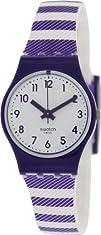 Swatch Purple Tracks Ladies Watch LV116