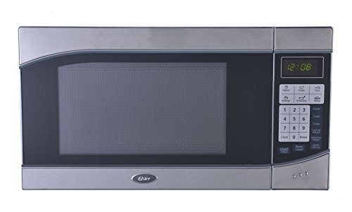 Oster OGH6901 0.9 Cubic Feet 900-Watt Countertop Digital Microwave Oven, Stainless Steel/Black (Small Microwave Oven Stainless compare prices)