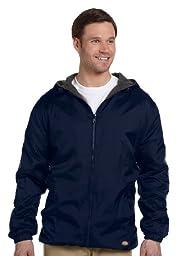 Dickies Men\'s Fleece Lined Hooded Jacket, Navy, XX-Large