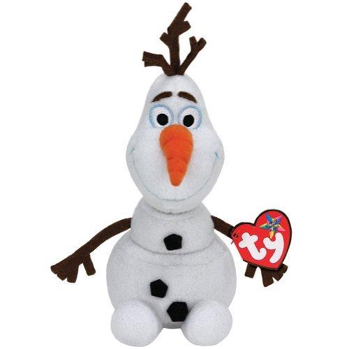 NEW Disney's Frozen Olaf Ty Beanie Babies Baby Snowman Plush - 1