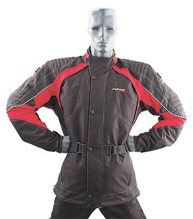 Roleff Racewear 6224 Blouson Moto Textile Vienne, Noir/Rouge, L