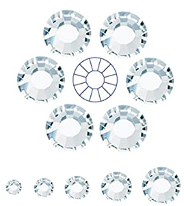 144pcs ss12 (3mm) Clear Crystal, Preciosa MC Chaton Roses VIVA12 (No HotFix Flatback Rhinestones)
