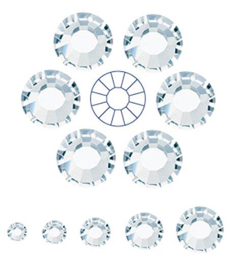 144pcs ss20 (4.8mm) Clear Crystal, Preciosa MC Chaton Roses VIVA12 (No HotFix Flatback Rhinestones) (Hotfix Swarovski Crystals Ss20 compare prices)