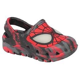 Marvel Spiderman Toddler Slippers Sandals Clogs Medium 7/8