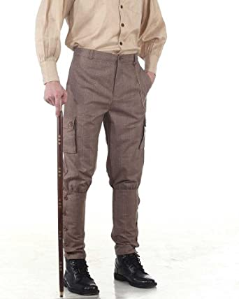 Steampunk Pants Mens Airship Pants Trousers -Checkered  AT vintagedancer.com