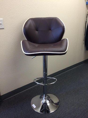 Recaro Modern Adjustable Bar Stool (Brown) - Set Of 2 front-984968