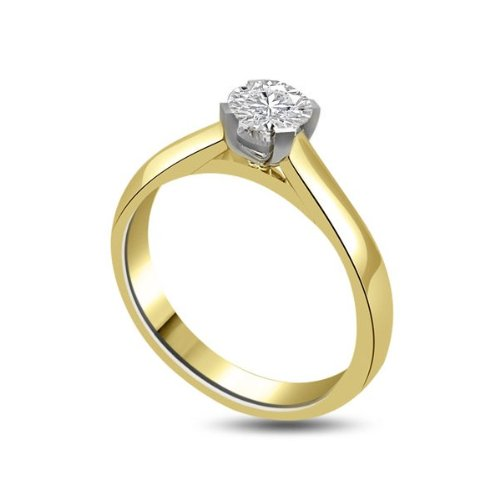 Infinity Jewellery 0.25ct Solitaire Engagement Ring with a Round Brilliant Cut Diamond G/VS1 in 18ct yellow and white gold - L