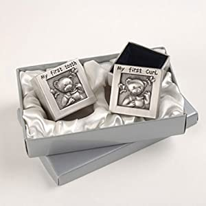 "My First Curl and ""My First Tooth"" Baby Keepsake Boxes"