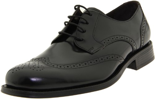Johnston & Murphy Men's Atchison Wing Tip Oxford,Black,8.5 M US