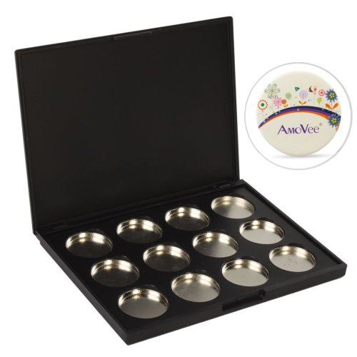 DIY 12 PCS 26mm Empty Magnetic Cosmetics Makeup Eyeshadow Ey