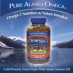 Pure alaska omega wild alaskan salmon oil 1000 for Wild alaskan fish oil