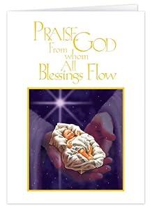 God's Hands Embossed Christmas Card Set of 20 by WalterDrake