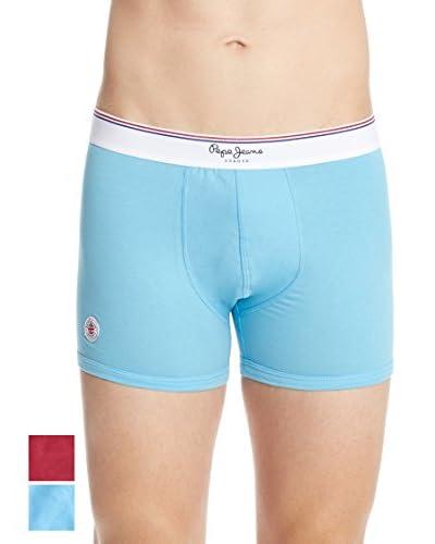 Pepe Jeans Pack x 2 Bóxers Azul / Rojo