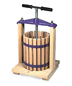 E c kraus table top fruit press home brewing for Home wine press