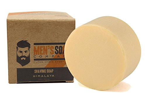 Shaving Soap Made with All Natural Ingredients Creates Rich Lather for a Smooth Shave. Includes Shea Butter and Coconut Oil to Protect & Moisturize the Skin. 3.8oz Shave Soap Refill Puck, Himalaya (Mens Wet Shave compare prices)