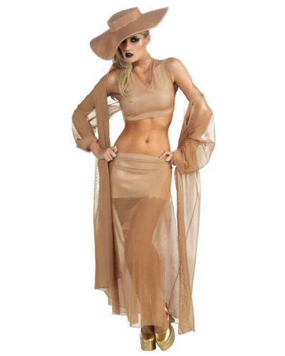 Rubie's Costume Co Women's Lady Gaga 2011 BTW 4 Pieces Grammy Costume, Beige, X-Small