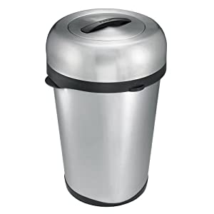 Polder Wb 1717 75 Indoor Outdoor 16 Gallon Trash Can Brushed Stainless Steel