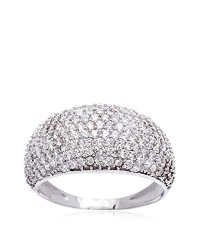 Bliss Swarovski Crystal 18K White Gold Dome Ring